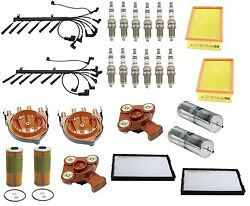 For BMW E32 750iL 5.0L 1990-94 Ignition Kit w/Air Fuel Oil Cabin Filters Tune Up
