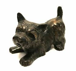 Solid Brass West Highland Terrier Puppy Dog Figurine 3.5 inches Long