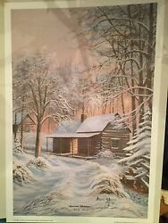 Mountain Christmas By Arnold Mcdowell- Print-numbered And Signed-16x24