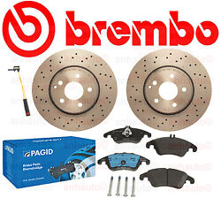 PAGID Pads + BREMBO Rotors Mercedes with Sport Package C350 E250 E350 E400