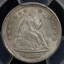 1856 H10c Liberty Seated Half Dime Pcgs Ms 64 Cac