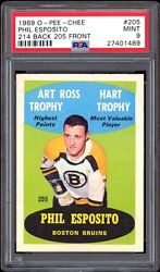 1969-70 O-pee-chee 205 Phil Esposito Error 205 On Front 214 On Back Psa 9++