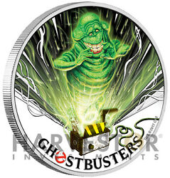 2017 Ghostbusters Coin Series - Slimer - 1 Oz. Silver Coin - 2nd In Series - Ogp