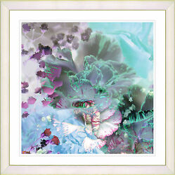 Wall art framed reproduction white 20x20