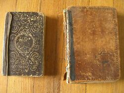 Antique German Besungbuch Lot Of 2 Hymnal Books Mid 19c./ 1853