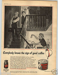 1950 Paper Ad Maxwell House Coffee Instant Ground Train Lionel Magne-traction