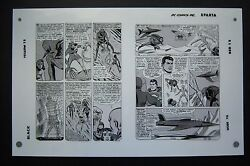 Org. Production Art Justice League Of America 9 Pg 23 And 24 Mike Sekowsky Art