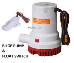 New 2000 Gph Marine Bilge Pump With Float Switch Usa Seller Fast Shipping