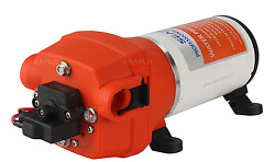 High Pressure Water Pump 12 V Dc 40 Psi 4.5 Gpm. Fittings Replace Flojet