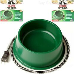 Farm Innovators Heated Water Dish Bowl Electric Waterer Outdoor Dog Cat Pet New