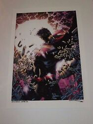 2013 Sdcc Superman Daily - Wednesday Art Print By Jim Lee And Sinclair 13x19 Ap2/5