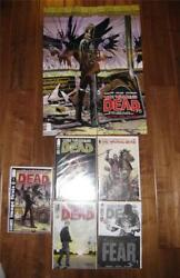 Sdcc Walking Dead Lot Exclusives 75, 87,100, 129, Image Firsts 1, Poster
