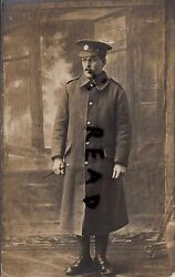 Ww1 Soldier Pte Devons Devonshire Regiment Greatcoat And Swagger Stick