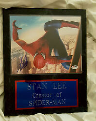 Spiderman Stan Lee Authentic Autographed Signed Wall Plaque Vintage 15 X12 W Coa