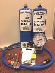 R410 R410a Refrigerant Recharge Kit Pocket Therm. Cores & Cap AC System