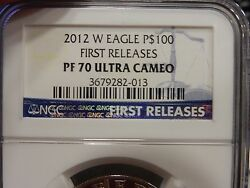 2012-w 1 Oz Plat .liberty Ngc Pr-70 First Releases