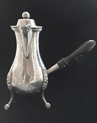 Antique French Silver Coffee Pot Side Handle 19th-century - Napoleon Iii