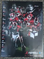 2017 Alabama Crimson Tide Football Schedule Poster Jalen Hurts, Scarborough ,and 6