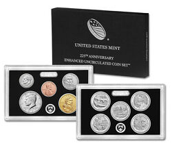 100 Sealed 2017-s 225th Anv Enhanced Unc Sets Cent Is 1/2 Mintage 1909-s Vdb
