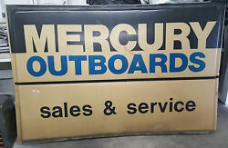 Oem Dealer Mercury Outboards Sales And Service Sign 7' X 54