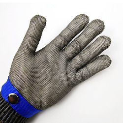 Safety Cut Proof Stab Resistant Stainless Steel Metal Glove Size Xl
