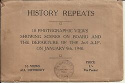 10 X Ww2 Photograph Views Departure Of 2nd Aif Postcards Diggers Soldier Nurse