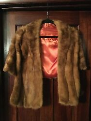 mink Fur Shaw perfect tip-top condition climate control stored smoke fee house