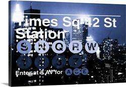 Times Square - Subway And City Art Canvas Wall Art Print New York City Home