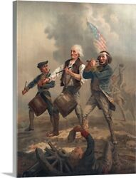 Yankee Doodle Or The Spirit Of And03976 Canvas Wall Art Print Home Decor