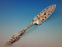 Lily By Whiting Sterling Silver Jelly Cake Server Pierced Brite-cut 9