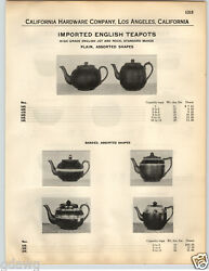 1932 Paper Ad Imported English Teapots Banded Fraunfelter Green China Casserole