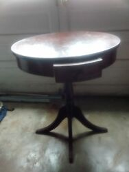 Antique Tables, Good Condition, Claw Feet On One And The Drawer, Enlarge