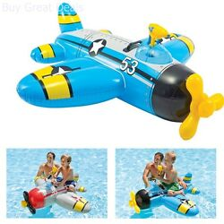 Water Gun Kids Plane Ride On Pool Floating For Ages 3Plus 1 Pack Colors May Vary