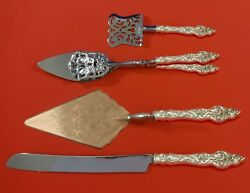 Les Six Fleurs By Reed And Barton Sterling Silver Dessert Set 4pc Custom Made