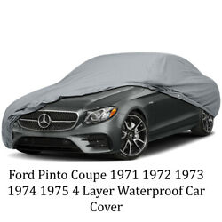 4 Layer Water Resistant Car Cover For Ford Pinto Coupe 1971 1972 1973