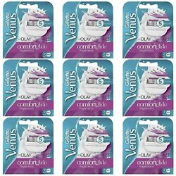 27 X Gillette Venus And Olay Sugarberry Scent Women's Replacement Razor Blades