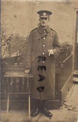 Ww1 Soldier Private Middlesex Regiment Wears A 3x Pocket Greatcoat