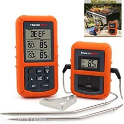 Wireless Remote Digital Cooking Food Meat Thermometer Smoker Grill Bbq