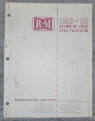 R-m Rinshed - Mason 1966 Automotive Color Specifications Manual Ford Chrysler Gm