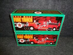 Texaco 1929 Mack Fire Truck Reg And Special Gold Edition Set 1998 - 15 In Series