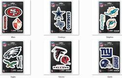 Nfl Decals Set Of 3 Sheet Is 5 1/2 X 8 By Team Promark -select- Team Below