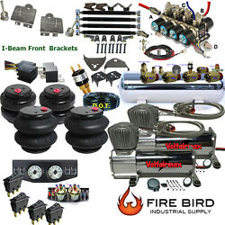 D F100 And F150 65-79 Air Kit 25/2600 Bags 3/8 Valve 7 Switch 5 Gal