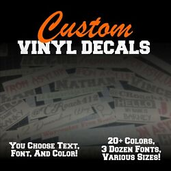 Custom Vinyl Lettering Decal Personalized Sticker Window Text Name Car Wall $8.75