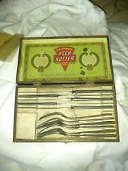 Keen Kutter Fork And Butter Knife Set In Box Vintage Antique Made In The Usa