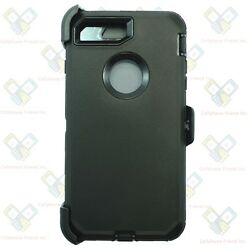 Black for iPhone 8 Plus Defender Case Cover w Screen amp; Belt Clip Fits Otterbox $9.99