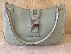 NEW AUTHENTIC GUCCI GG Leather Hobo Shoulder Bag Lizard Skin With Tags Very Rare