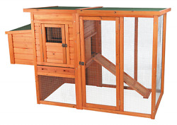 Backyard Wooden Chicken Coop with Outdoor Run Hen House Poultry Nesting Hutch