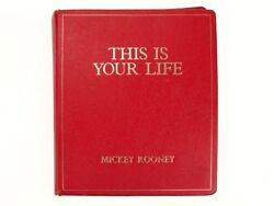 1988 This Is Your Life Red Book for Mickey Rooney