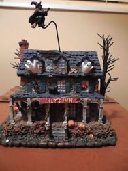 Hawthorne Village Halloween The Munsters Lily's Inn Flying Witch Lily Coa Pkg