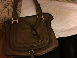 Chloe Classic Light Brown Medium Marcie Satchel bag With Cross body Strap